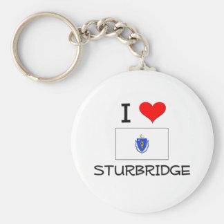 Amo Sturbridge Massachusetts Llavero Redondo Tipo Pin