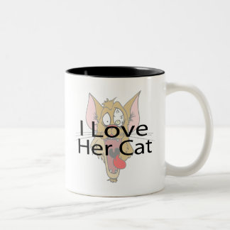 Amo su negro del gato taza