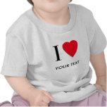 Amo (su texto) la ropa modificada para requisitos  camisetas