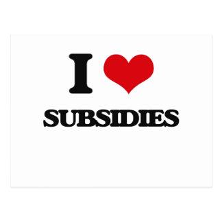 Amo subsidios postal