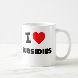 Amo subsidios tazas de café