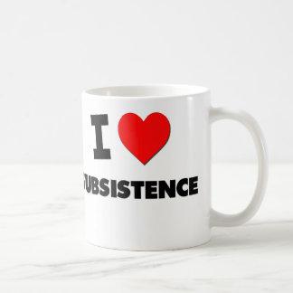Amo subsistencia taza de café