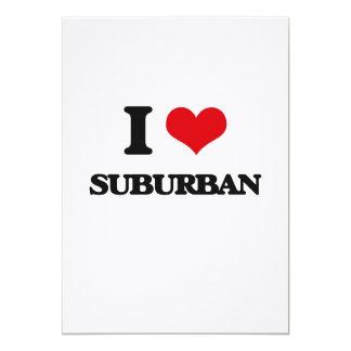 "Amo suburbano invitación 5"" x 7"""