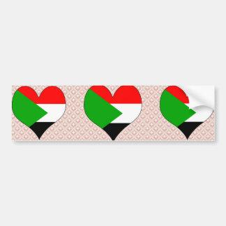 Amo Sudán Etiqueta De Parachoque