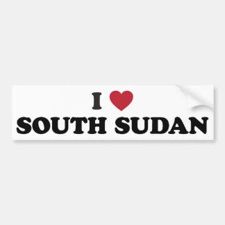 Amo Sudán del sur Pegatina De Parachoque