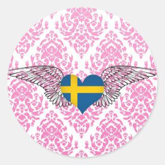 Amo Suecia - alas Etiqueta