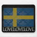 Amo Suecia fresca Tapete De Ratón