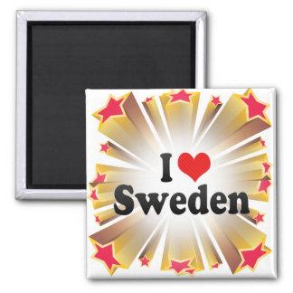 Amo Suecia Imán Cuadrado