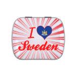 Amo Suecia, Nueva York Latas De Caramelos