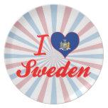 Amo Suecia, Nueva York Plato De Comida