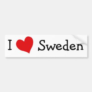 Amo Suecia Pegatina Para Auto