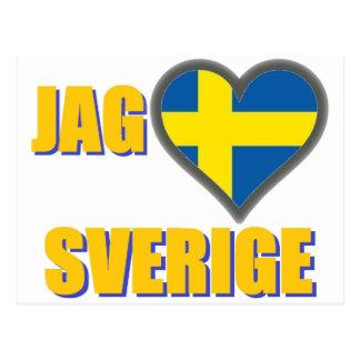 Amo Suecia (punta Älskar Sverige) Tarjeta Postal