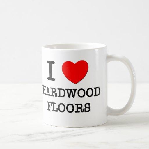 Amo suelos de parqué tazas