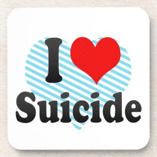Amo suicidio posavasos de bebidas