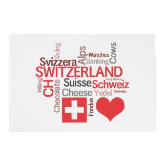 Amo Suiza - cosas suizas preferidas Tapete Individual