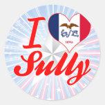 Amo Sully, Iowa Etiquetas Redondas