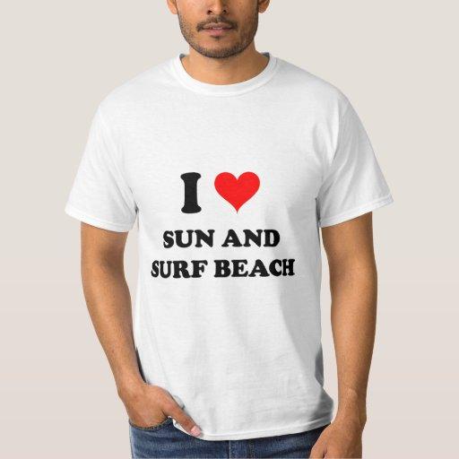 Amo Sun y practico surf la playa Nueva York Polera