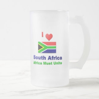 Amo Suráfrica, África debo unir Taza De Cristal