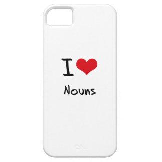 Amo sustantivos iPhone 5 cárcasa