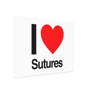 amo suturas impresiones en lona estiradas