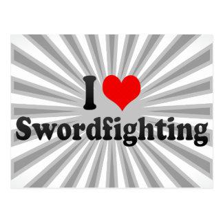 Amo Swordfighting Postales