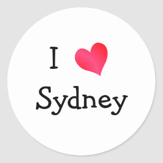 Amo Sydney Pegatina Redonda
