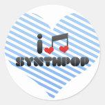 Amo Synthpop Etiqueta Redonda