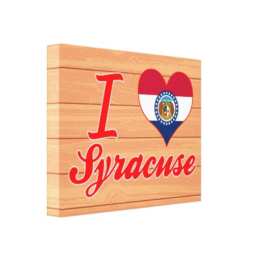 Amo Syracuse, Missouri Impresión En Lona