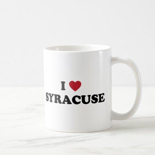 Amo Syracuse Nueva York Taza De Café