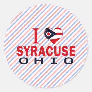 Amo Syracuse Ohio Pegatina