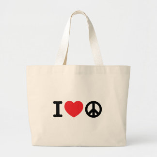 Amo t bolsa tela grande