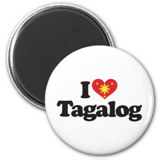 Amo tagalogo imán redondo 5 cm