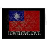 Amo Taiwán fresco Felicitación