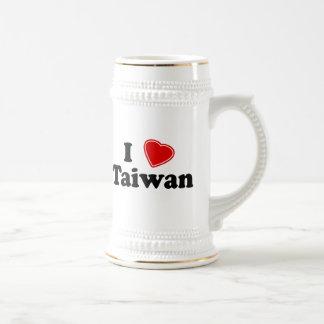 Amo Taiwán Jarra De Cerveza