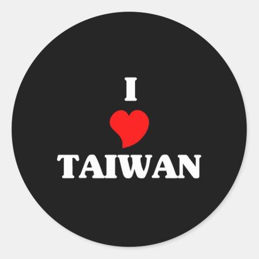 Amo Taiwán Pegatinas Redondas