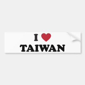 Amo Taiwán Pegatina Para Auto