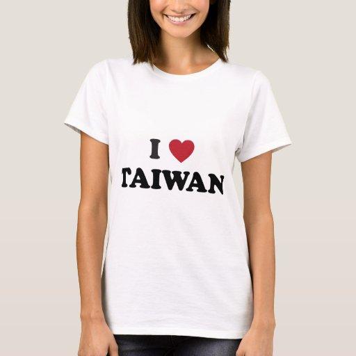 Amo Taiwán Playera