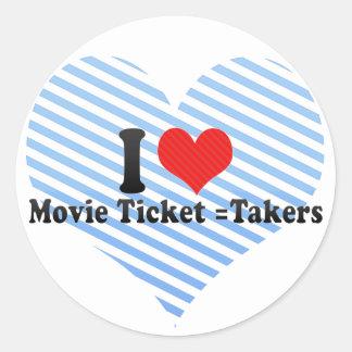 Amo =Takers del boleto de la película Etiqueta