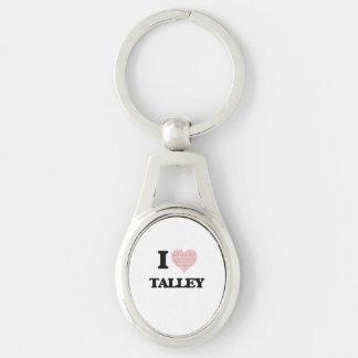 Amo Talley Llavero Plateado Ovalado