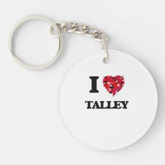Amo Talley Llavero Redondo Acrílico A Una Cara