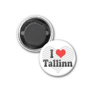 Amo Tallinn, Estonia Imán Redondo 3 Cm