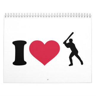 Amo talud del béisbol calendario