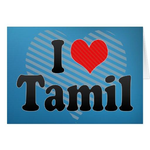 Amo Tamil Tarjeta De Felicitación
