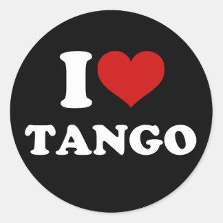 Amo tango pegatina redonda