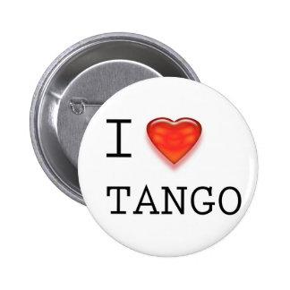 Amo tango pin redondo de 2 pulgadas