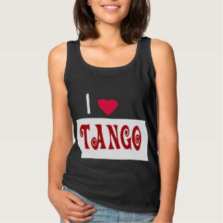 Amo tango playera con tirantes