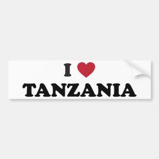 Amo Tanzania Etiqueta De Parachoque