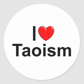 Amo Taoism del corazón Pegatinas Redondas