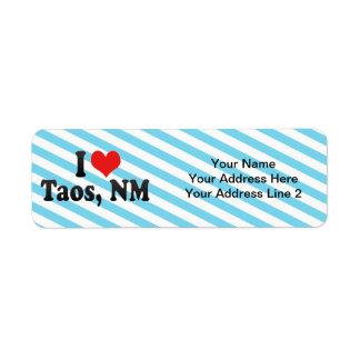 Amo Taos, nanómetro Etiqueta De Remite