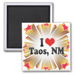 Amo Taos, nanómetro Imanes De Nevera